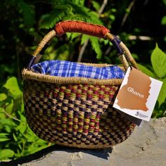 Want a Bolga Basket for Mitte to bring her soup day vegetable in for Waldorf Kindy. . . this Ghana one?