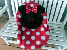 Super Cute Personalize Minnie Mouse Baby Carrier Cover,  Car Seat Carrier Cover Message Me Baby's Name And I Will Make One Just For You by lindasnd on Etsy
