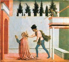 1445.Martyrdom of St. Lucy - Domenico Veneziano