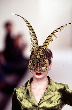 Philip Treacy - Ready-to-Wear - Runway Collection - Women Fall / Winter 1996 Philip Treacy, Ready To Wear, Fall Winter, Runway, Window, Collections, Bird, Hats, How To Wear