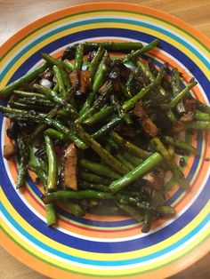 Asparagus stir fry. * To allow it to brown stir the asparagus only ...