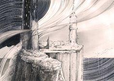 """Between..."". Ink & pencil. 21 x 29,7 cm. Author: Witold Kubicha"