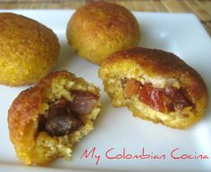 Marranitas or Plantain Croquettes with Pork Crackers