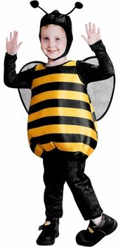 toddler fluffy bumble bee costume #ToddlerCostume #HalloweenCostume #Halloween2014