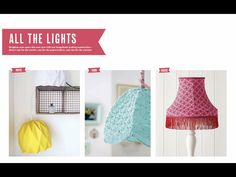 Crochet lampshade by 'Babytogo' DIY step by step project on Mollie Makes magazine 62 issue.