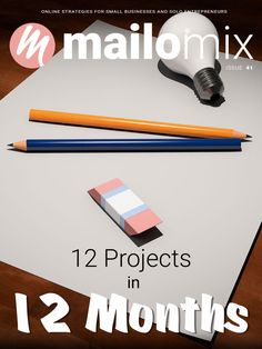 Mailomix Newsletter - 12 Projects In 12 Months Weekly Newsletter, 12 Months, Tech Companies, Challenges, Company Logo, Business, Cover, Projects, Slipcovers