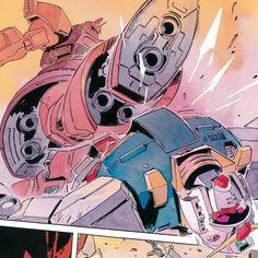 JAPAN3 — ゲルググ対ガンダム 安彦良和 ガンダム The Origin, Zeta Gundam, Gundam Wallpapers, Gundam Mobile Suit, Galactic Heroes, Robot Concept Art, Gundam Art, Custom Gundam, Mecha Anime