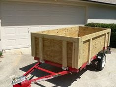 Harbor Freight Trailer Ultimate Build Up And Modifications – Vanchitecture Kayak Trailer, Trailer Diy, Trailer Plans, Trailer Build, Homemade Trailer, Small Trailer, Harbor Freight Utility Trailer, Folding Utility Trailer, Utility Trailer Camper