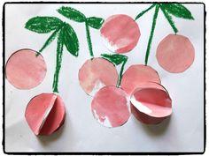 bricolage cerise, peinture enfant, été