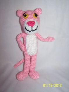Amigurumi toys, which are usually prepared for gifts or children, can be shaped according to the cartoon heroes or toy models that people love. If we go over the bee yeast model; Crochet For Kids, Crochet Baby, Free Crochet, Crochet Amigurumi Free Patterns, Crochet Dolls, Panther, Pink Panter, Cute Cartoon Characters, Toy House