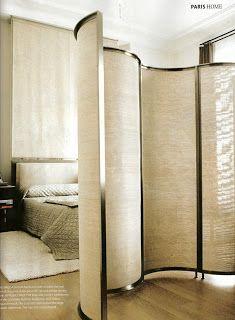 STUDIO ANNETTA: Andree Putman Interior Architecture, Interior And Exterior, Room Deviders, Room Divider Doors, Room Divider Screen, Dressing Screen, Partition Screen, Room Setup, Modern Bedroom