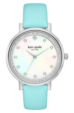 Early Access Sneak Peek kate spade new york 'monterrey' leather strap watch, 38mm