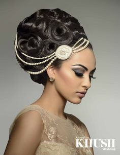 Bridal updo for your big day by Tazneem Ghaffar T: +44(0)7931 720 276 E: tazneemghaffar@hotmail.co.uk As seen in the Autumn 2013 Issue of Khush Wedding Magazine