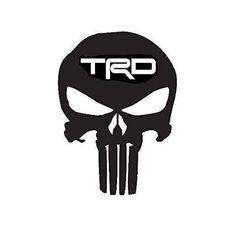 Punisher Skull TRD Emblem Decal (Choose Size and Color) 118 Punisher Skull Decal, Skull Pumpkin, Stencil Art, Trd, Custom Vinyl, Smile Face, Pin Up Girls, Vinyl Decals, Artwork