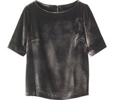 TOAST VELVET TEE | Soft, fluid, slightly boxy top in a sumptuous silk and viscose velvet.