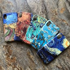 Cute Paintings Ideas For Phone Case Arte Van Gogh, Van Gogh Art, Desenhos Van Gogh, Ara Bleu, Van Gogh Pinturas, Iphone 7, Iphone Cases, Art Du Croquis, Cute Paintings