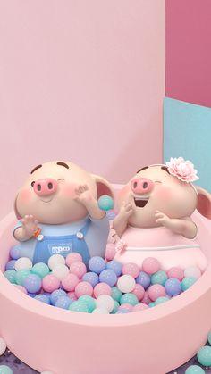 Pig Wallpaper, Disney Wallpaper, Iphone Wallpaper, This Little Piggy, Little Pigs, Cute Piglets, Small Pigs, Pig Illustration, Funny Pigs