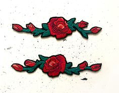 "#hand #emroidery #rose #patch #handmade #patches #oldschool #tattoo Check out new work on my @Behance portfolio: ""Hand embroidered ROSE Patches"" http://be.net/gallery/55377411/Hand-embroidered-ROSE-Patches"