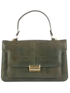 KATHELEYS VINTAGE 'Iguane' Leather Handbag via farfetch.com