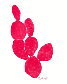 Pink Cacti by Kate Roebuck on Artfully Walls
