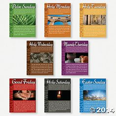 Holy Week Learning Charts