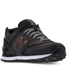 New Balance Women's 574 Varsity Sport Casual Sneakers from Finish Line - Black 9.5