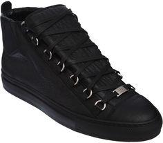 Black Balenciaga Arena sneakers ($545)