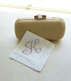 Irish Linen and Lace Handkerchief, Monogrammed Handkerchief, Personalized Handkerchief, Bridal Handkerchief, Wedding Handkerchief