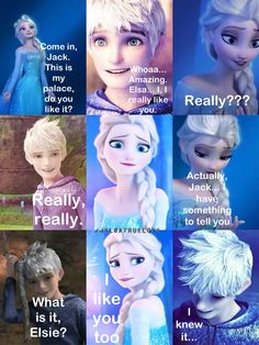 AWW SO CUTE! By me. Jelsa Jackelsa Jack frost and Elsa