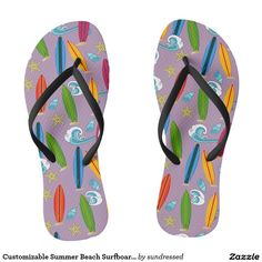 Shop for Beach sandals & flip flops on Zazzle! Check out our selection of cool, comfortable Beach sandals. Best Flip Flops, Cute Flip Flops, Surfboards, Beach Sandals, Summer Beach, Happy, Pattern, Flip Flops, Ser Feliz
