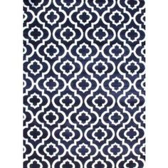 Navy Morrocan Trellis Area Rug (7'10 x 10'6) | Overstock.com Shopping - The Best Deals on 7x9 - 10x14 Rugs