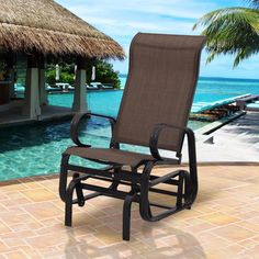 - ICON2 Luxury Designer Fixures  Goplus #Patio #Glider #Rocking #Bench #Rocker #Person #Chair #Seat #Armchair #Pool #Backyard #Aluminum #Modern #Ou