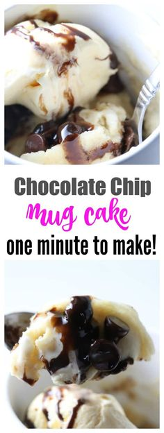 One Minute Chocolate Chip Mug Cake - Your Modern Family