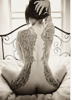 Sexy Wing Tattoos on Back