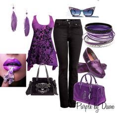 """For the Purple Lover"" by momfor2girls on Polyvore"
