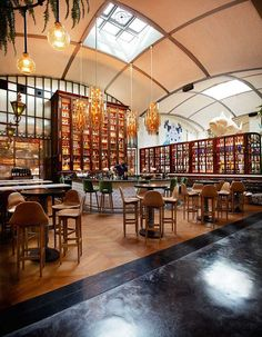 """El Nacional"" , a flagship building that was formerly a garaje converted into a gastronomical multispace. #benchbagstheblog"