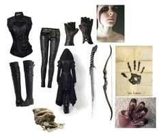 """""""Skyrim Outfit #2 thief/Mage"""" by jessicarm9 ❤ liked on Polyvore featuring moda, Balmain, Burberry, Apples y Warpaint"""