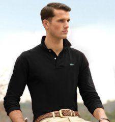 fae4ce0ba3fa4b Nom  Polo soldes lacoste Homme Manches Longues Fitted Uni Noir Couleur  Noir  Tissu