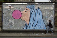 bubble gum graffiti in Bologna Big Babol, Street Painting, Street Art Graffiti, Drawing People, Art Paintings, Art Drawings, Illustration Art, Ink, Patterns