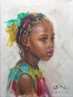 By Caribbean artist Jonathan Guy-Gladding | Jagartist.com African American Art, African Art, Haitian Art, Caribbean Art, Black Art Pictures, Black Artwork, Expressive Art, Afro Art, Black Women Art