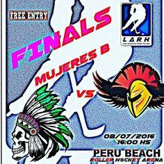 Final Mujeres B #LO2015 #Comanches vs #Mirrigan viernes 8/7/2016 16hs @perubeachrollerhockeyarena #entradalibre #hockey http://ift.tt/29lLIIU - http://ift.tt/1HQJd81