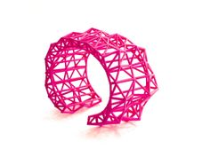 geometric neon 3d printed jewelry