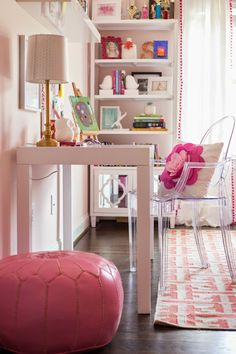 Tween Girl Pink + Coral Bedroom