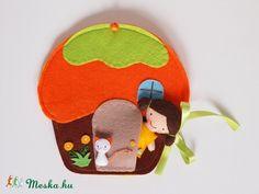 Lotti narancsos muffin házikója- játszókönyvecske, Baba-mama-gyerek, Játék, Készségfejlesztő játék, Plüssállat, rongyjáték, Meska