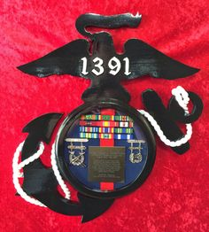 USMC plaque Questions on design or price contact Lunawood1775@gmail.com Usmc Ring, Mcrd San Diego, Semper Fi, Marine Corps, Shadow Box, Marines, Boxes, Military, Shopping