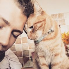 I do have a tendency to fall for guys that love cats. You can't tell me this picture isn't precious. James McVey.