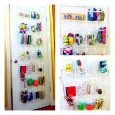 clear shoe organizer for carts & crafts