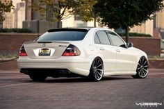 Mercedes-Benz E55 AMG  Tune in to Tunecarstyle.com for your new auto accessories!  Enter the code MyAutoStore at check out to get your discount.  #mercedes #cars #e55 #amg #white #luxury #custom