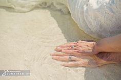 Like this shot of the couples hands