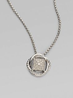 David Yurman - Diamond & Sterling Silver Necklace at London Jewelers!